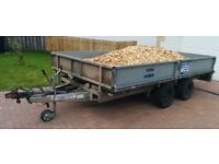 Ifor Williams LM125 Dropsides Flatbed Trailer