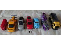 Various vehicular toys