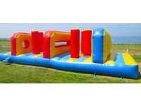 Large Inflatable Obstacle Course. 30 foot long. In Cornwall