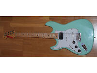 Left Handed Fender Strat copy Foam green - good for refurb or project