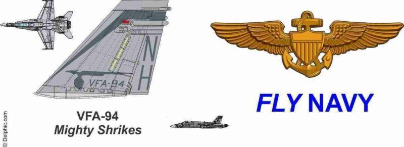 "VFA-94 ""Mighty Shrikes"" F/A-18 Hornet Mug"
