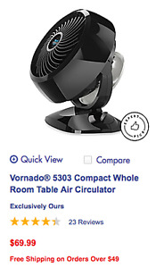 Vornado 5303 Compact Whole Room Table Air Circulator