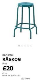 Blue bar stool for sale!
