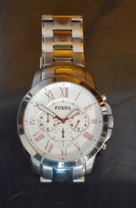 Men's Silver & Gold Fossil Watch