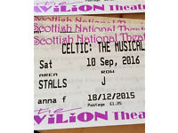2x tickets for Celtic the Musical
