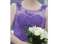 Cabury Purple bridesmaid Dress