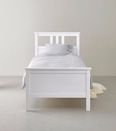 Single Bed Ikea White Hemnes Bed In Very Good Condition Frame With Slatted Base