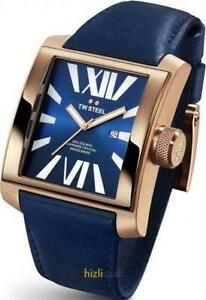 TW Steel CEO Goliath Blue Dial Dark Blue Leather Unisex Watch CE3018