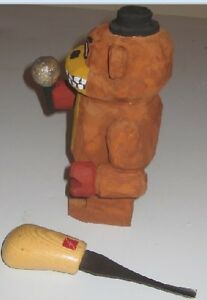 Freddy Fazbear hand carved and hand painted 5 1/2 inch tall Peterborough Peterborough Area image 3