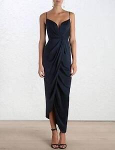 Zimmermann Silk Plunge Dress Black Size 1 Watson North Canberra Preview