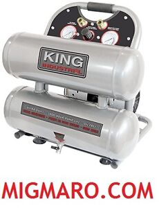 KING INDUSTRIAL KC-4620A COMPRESSEUR À AIR 2HP 4.6 GALLONS NEUF!