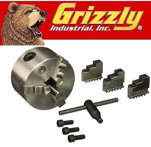 "NEW GRIZZLY 4"" JAW BACK STROLL CHCK Grizzly G9829 4-Inch 3-Jaw Plain Back Scroll Chuck 109874500"