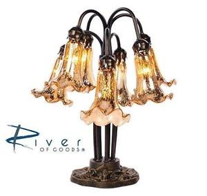 NEW TIFFANY STYLE 7-ARM TABLE LAMP MERCURY GLASS - GOLD - HOME - LIGHTING - DECORATION 88582364