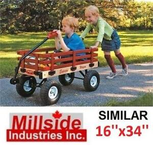 NEW MILLSIDE KIDS EXPRESS WAGON SFW 246740558 16x34 WOODEN RIDE ON TOYS
