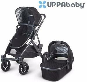 USED* UPPABABY VISTA STROLLER   BABY STROLLER, JAKE, BLACK PRAM  89688595