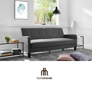 NEW* HOMETRENDS FUTON SOFA BED GREY FUTON SOFA BED 102150162