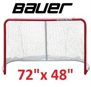 """NEW BAUER DELUXE STREET HOCKEY GOAL 1.5"""" TUBING - 72""""x 48"""" - GOALIE NET sports exercise fitness game team outdoor"""