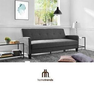 NEW* HOMETRENDS FUTON SOFA BED GREY FUTON SOFA BED 104507989