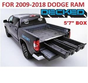 NEW DECKED TRUCK BED STORAGE SYSTEM DR3 214467204 DODGE RAM 2009 2018 5' 7'' BOX PICK UP