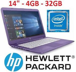 """REFURB HP STREAM 14 LAPTOP PC PC NOTEBOOK COMPUTER - ELECTRONICS - 14"""" - 4GB - 32GB EMMC - PURPLE 101246299"""