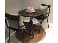 2 x Rockett St. George metal / wood chairs. VGC. Priced each - REDUCED