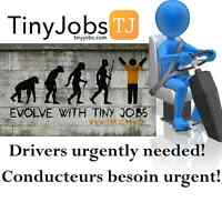 Postes de livreurs/Delivery positions for a fast growing company