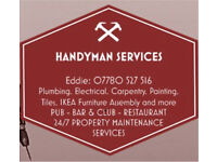 07780 527516 HANDYMAN SERVICES: Electrical, Plumbing, Carpentry, Locksmith, Painting, IKEA Assembly