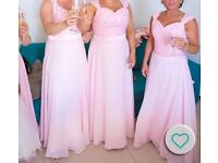 4 bridesmaids dresses baby pink