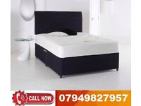 A.....BLACK FRIDAY SALE--BRAND NEW DOUBLE DIVAN BASE WITH ORTHOPAEDIC MATTRESS