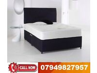 B.....BLACK FRIDAY SALE--BRAND NEW DOUBLE DIVAN BASE WITH ORTHOPAEDIC MATTRESS