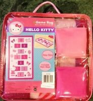 NEW Hello Kitty Game Rug includes Bean Bags never been used