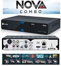 EVO NOVA COMBO HD Linux Enigma2 DVB-SS2 + DVB-TT2C Combo Receiver