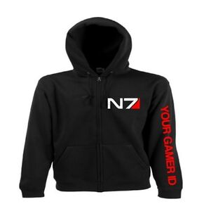 MASS-EFFECT-3-Zip-up-HOODIE-N7-Hoodie-PS3-XBOX-360-FREE-UK-POST
