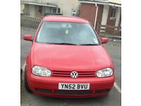 Voltswagon golf s 1.4 52 plate