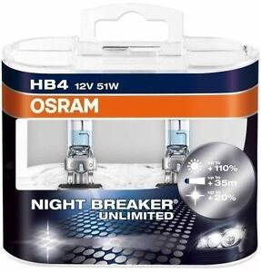 osram hb4 night breaker unlimited 12v 51w lampadine fari. Black Bedroom Furniture Sets. Home Design Ideas