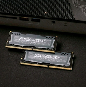 Crucial Ballistix 16GB (2x 8GB) DDR4 2400 SO-DIMM Laptop RAM
