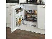 Under counter integrated fridge with freezer compartment