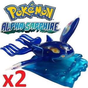 2 NEW POKEMON ALPHA SAPPHIRE TOYS - 106189955 - Kyorge Collectable Figurine - KIDS TOYS FIGURES - NINTENDO - VIDEO GAMES