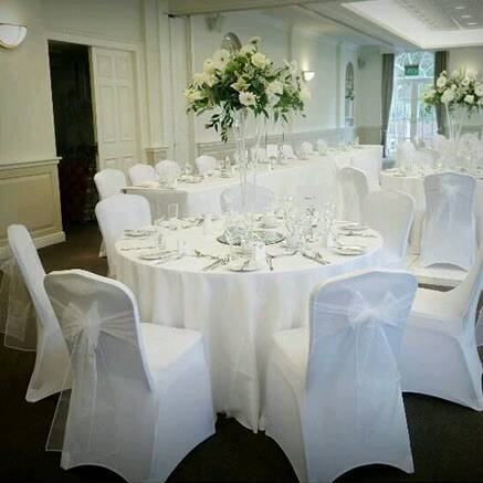 140 white arch front luxury chair covers