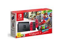 Brand New Nintendo Switch Mario Odyssey Bundle (red joycons) 3.0.0 VERY RARE