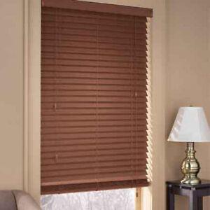 WOOD window blinds - 2 inch slats