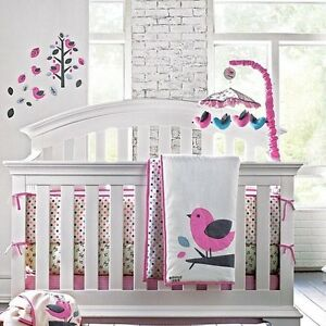 Jack and Emma girls crib bedding