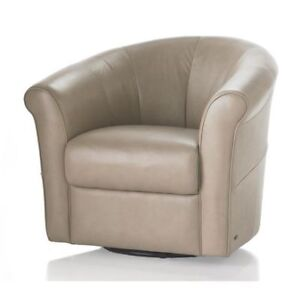 Natuzzi Tan Leather Tub Chairs