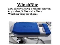 WinchRite Winch Battery Replacement UP GRADE 2.6ah to 4.4ah =69% More Winching per Charge