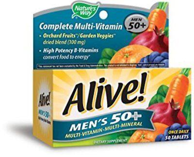 Natures Way Alive  Mens 50  Multivitamin Multimineral Tablets  50 Tablets