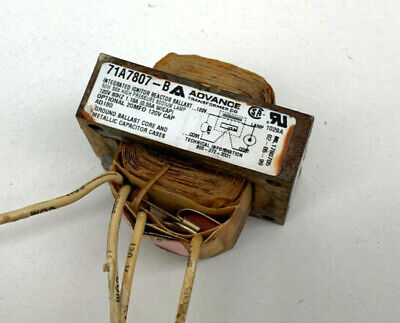Advance 71a7807-b Integrated Ignitor Reactor Ballast For 50w S68 Hps Lamp