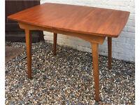 Retro mid-century dining table MCM vintage teak small