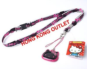 Hello-Kitty-Cell-PHONE-LANYARD-ID-NECK-STRAP-Dust-Cleaning-Pad-Sanrio-D5b