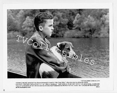 8x10 Photo MY DOG SKIP ~ 2000 ~ FRANKIE MUNIZ and dog ~CS