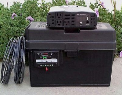 1500/3000 Watt Solar Generator 100 Solar Panel 100AH Battery Portable Emergency